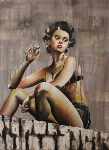 "Saatchi Art Artist Donatella Marraoni; Painting, ""it's time to live"" #art"