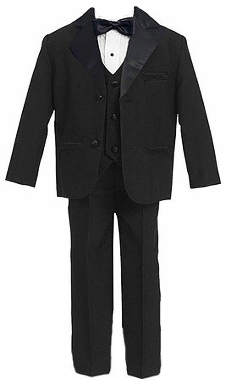 Amazon.com: US Fairytailes Usher Boy Tuxedo Suit Black From Baby to Teen: Infant And Toddler Tuxedos: Clothing