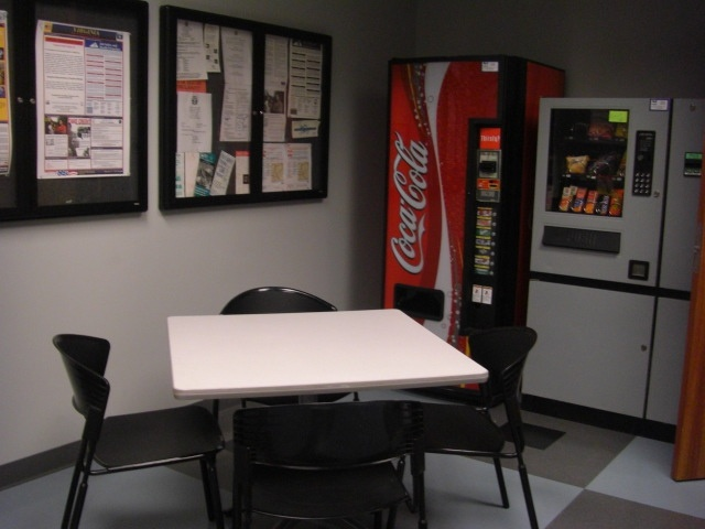 Small break room one table commercial office break for Office break room ideas