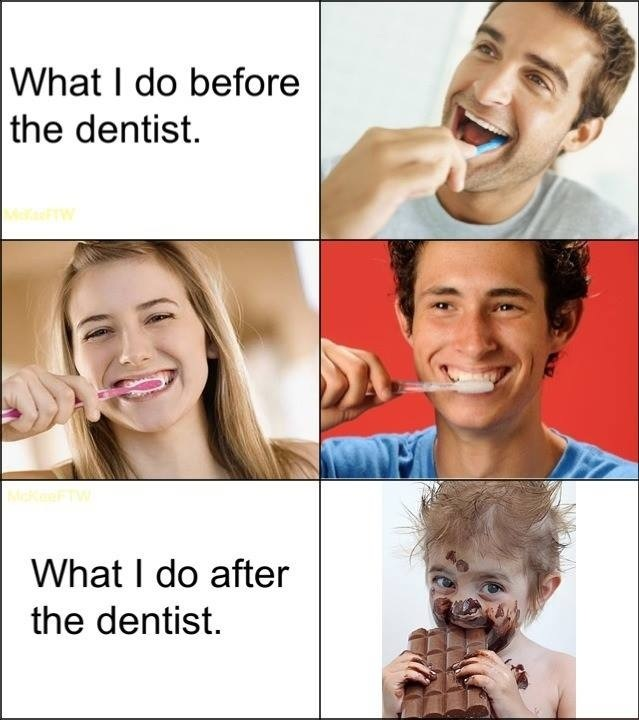 Before & After the Dentist