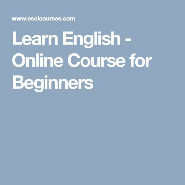 Learn English - Online Course for Beginners