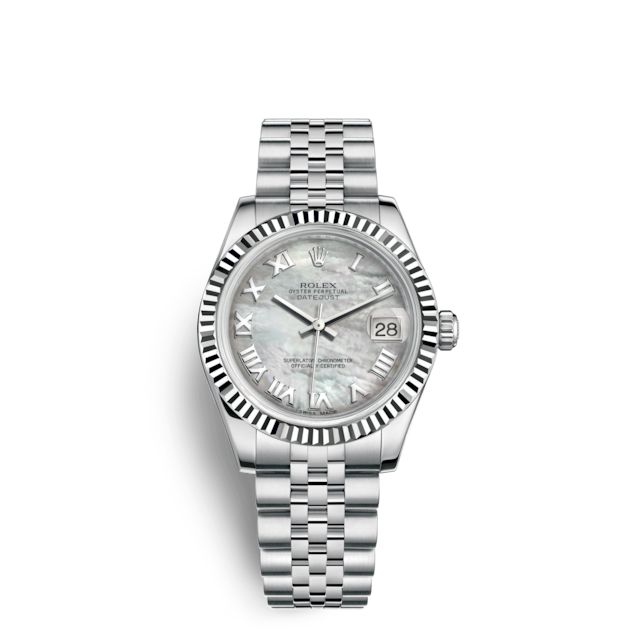 6e279e3905be1 Rolex Datejust 31 Watch  White Rolesor - combination of Oystersteel and 18  ct white gold - 178274