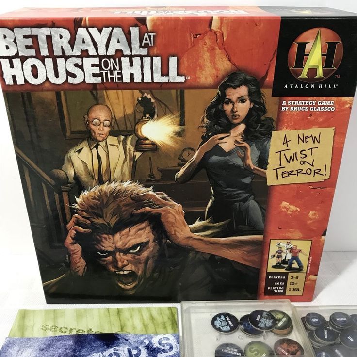 Betrayal at House On The Hill Avalon Hill Game RPG Board COMPLETE #AvalonHill