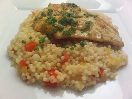 Curried Fish Fillet with Greek Couscous