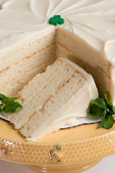 Irish Cream Cake for St. Patricks Day
