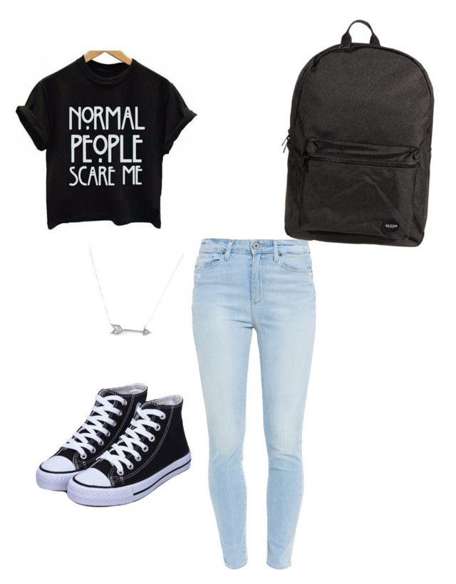 """""""Untitled #22"""" by snaguirregomez ❤ liked on Polyvore featuring beauty, Paige Denim, Adina Reyter and Jagger"""