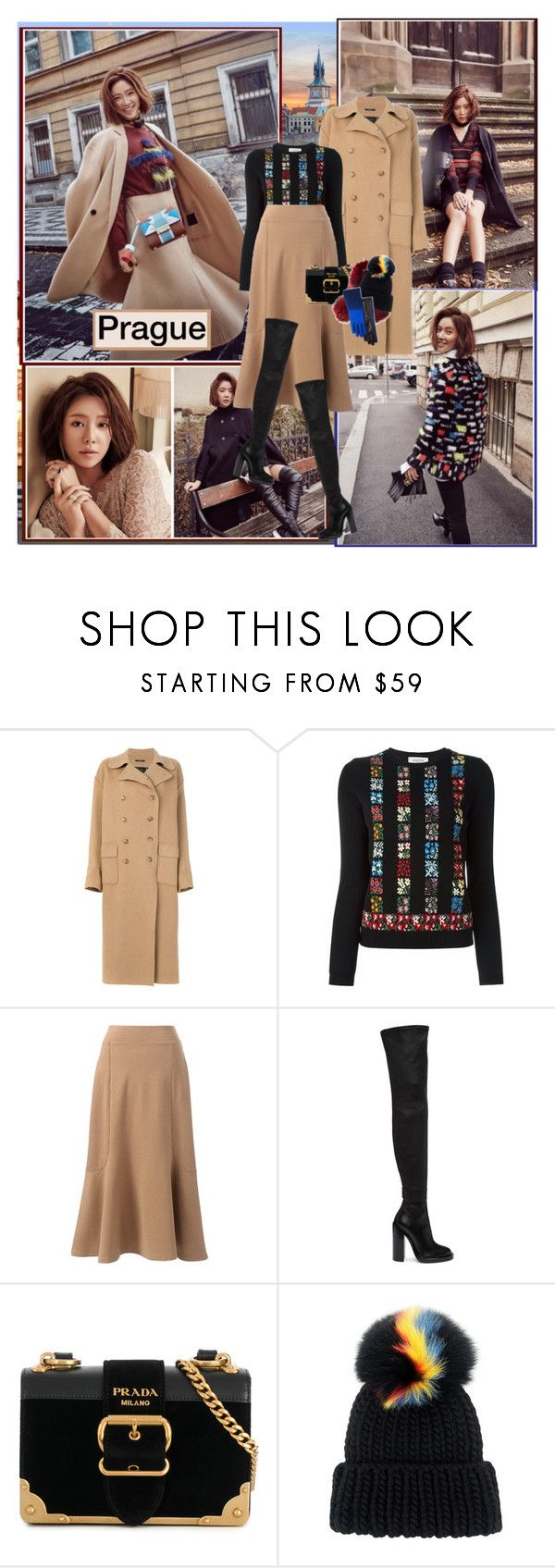 """Prague : )"" by thisiswhoireallyam7 ❤ liked on Polyvore featuring Bohemia, R13, Valentino, Lands' End, Ann Demeulemeester, Prada, Charlotte Simone, Eugenia Kim, Echo and plus size clothing"