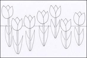 Pop-art tulipány
