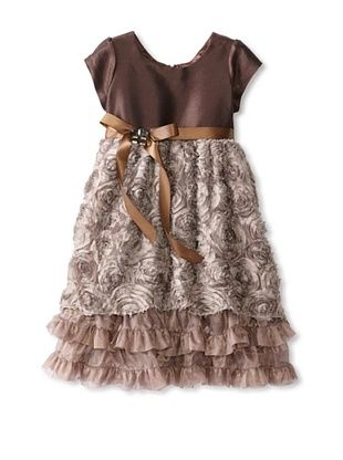 80% OFF C'est Chouette Couture Girl's Bloomis Dress (Brown)