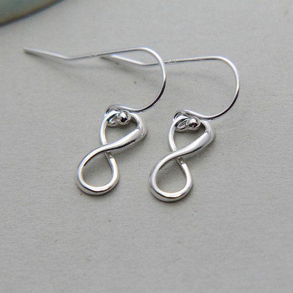 SALE Infinity Earrings Silver Infinity Earrings Sterling
