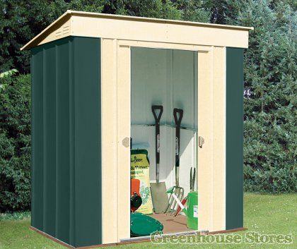 canberra 6x4 metal pent shed - Garden Sheds 6x4