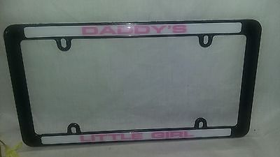 $2.96 or best offer Daddy's Girl License Plate Tag Frame for Auto-Car-Truck Pink