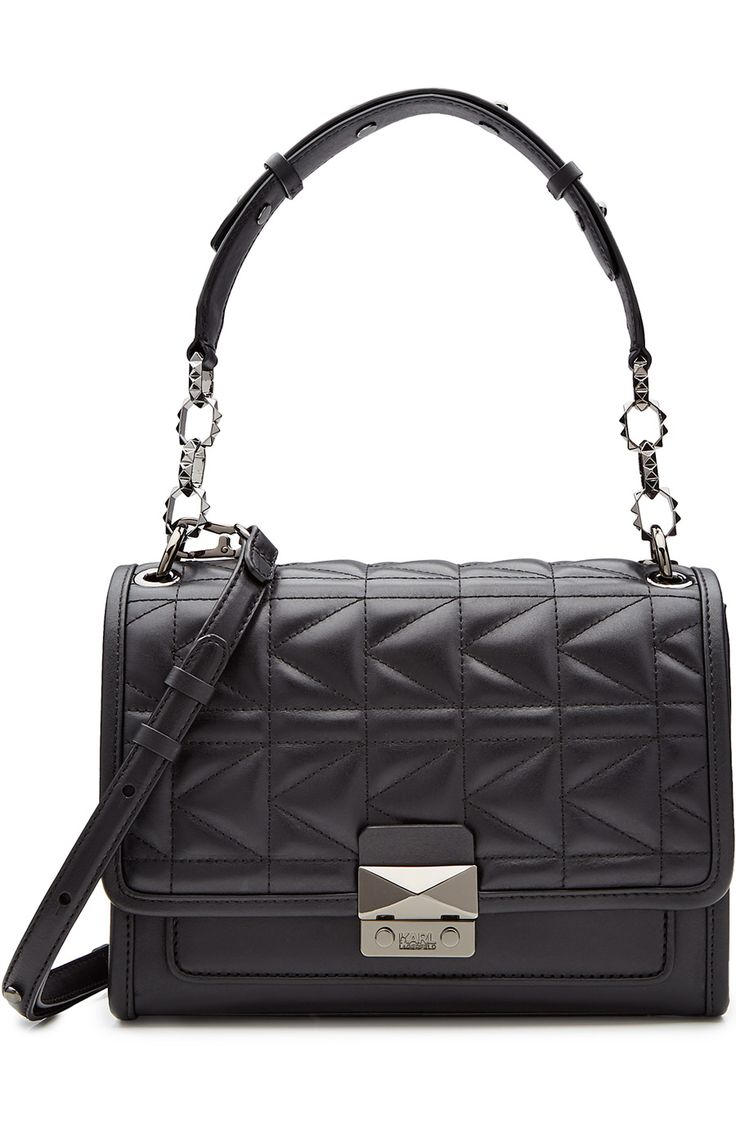 KARL LAGERFELD Quilted Leather Shoulder Bag. #karllagerfeld #bags #shoulder bags…