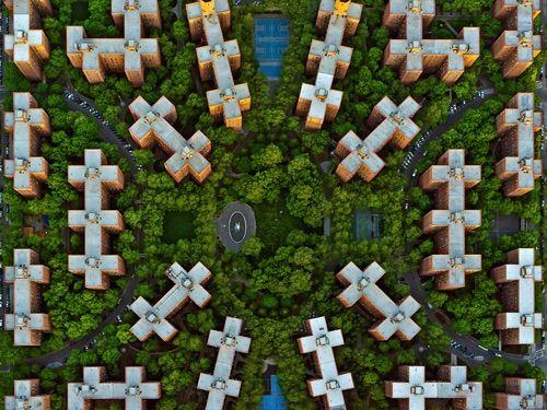 Jeffrey Milstein - NYC Stuyvesant. Fotografia aerea NY, urbanlandscapes. Paisajes de la modernidad urbana. Geometria arquitectonica de la ciudad. Luces de Nueva York. #iconocero