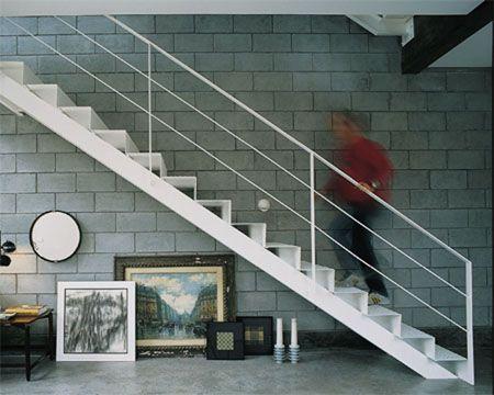 Os blocos de concreto (Exactomm) receberam resina acrílica incolor Acqüella...: Bloco De Concreto, Concrete Boxes, Casa 5M, Architecture, House, De Bloco, This House, Os Bloco, Wall