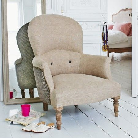 The Archie Armchair in Natural Linen - Chairs & Armchairs - Chairs - Furniture
