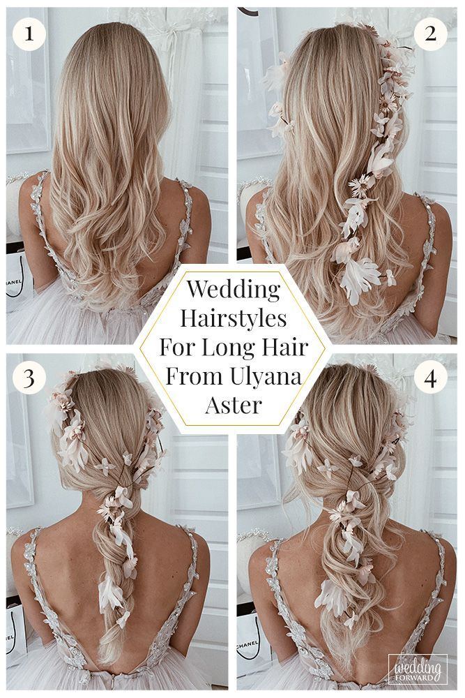 36 Wedding Hairstyles For Long Hair From Ulyana Aster ❤️ Are you looking for gorgeous wedding hairstyle? Get inspired by enchanting wedding hairstyles for long hair from Ulyana Aster. You can add some Ulyana Aster hair accessories for the perfect look. #wedding #bride #weddingforward #bridalhair #weddinghairstylefromulyanaaster