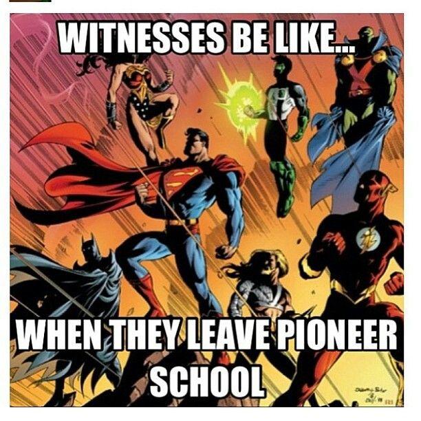 Zo zijn Jehovah's Getuigen als ze de pioniersschool hebben gedaan.