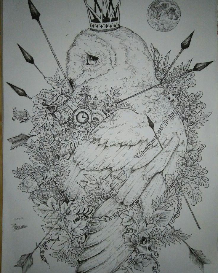 #bird #animal #doodle #surealism #seni #drawing #pen