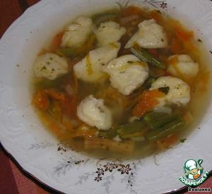 фасолевый суп с клецками