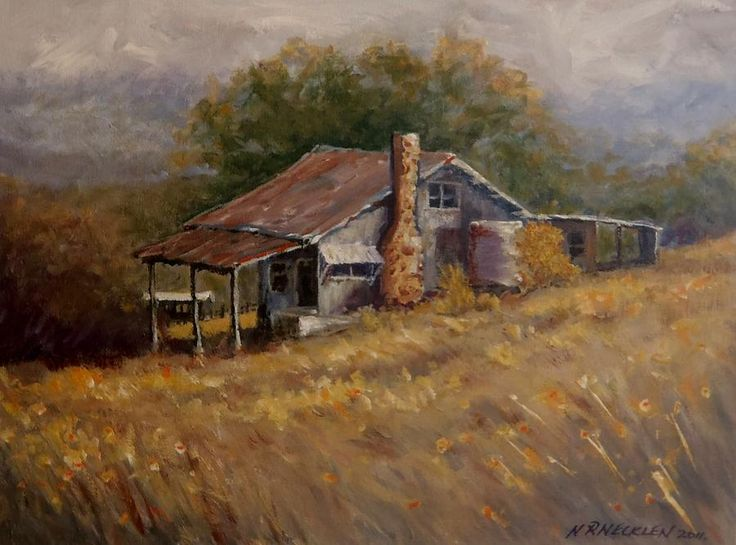 paintings of old farm buildings - Google Search