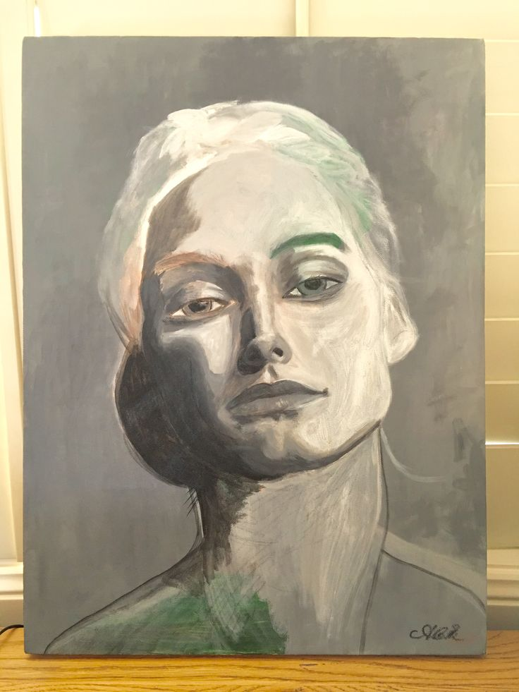Painting by A.C. Efverman. Portrait of her character Lisa - from bestselling novel series 'DS Morgan Callaghan' / 'Kommissarie Morgan Callaghan' available world wide on Amazon in English and Swedish.