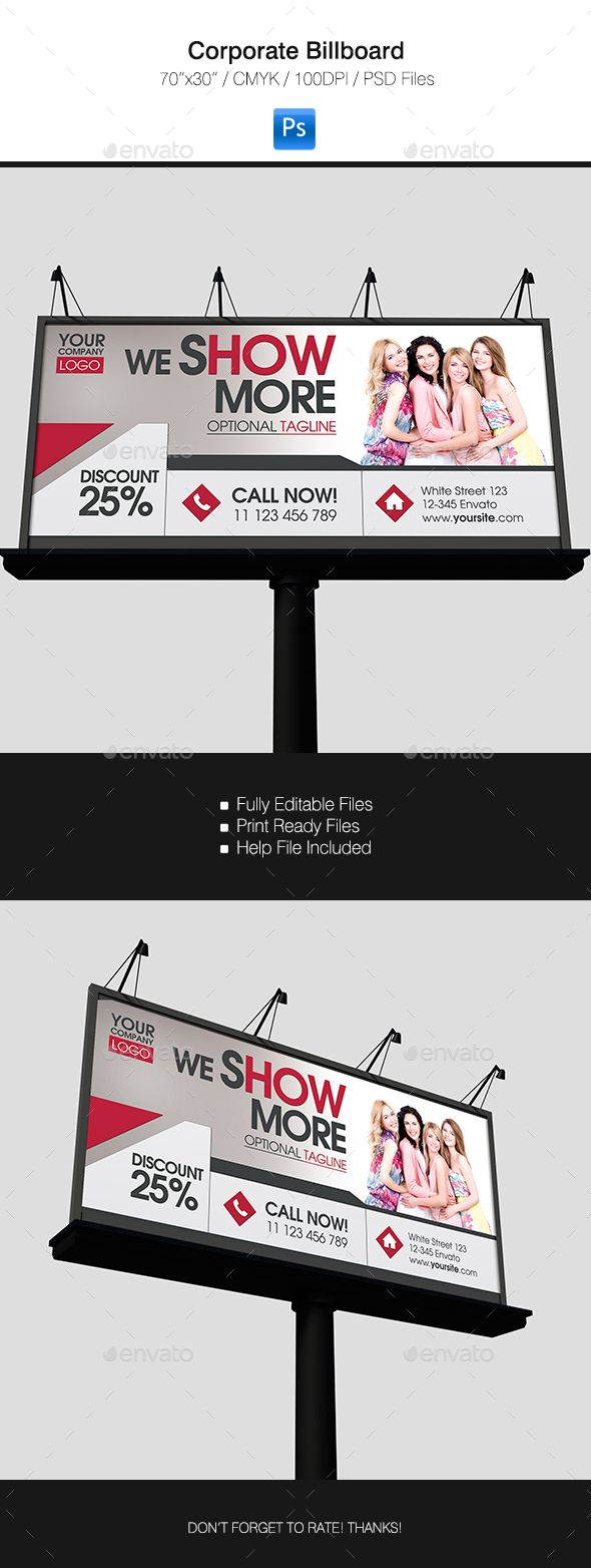 The 13 best Billboard Templates images on Pinterest | Print ...