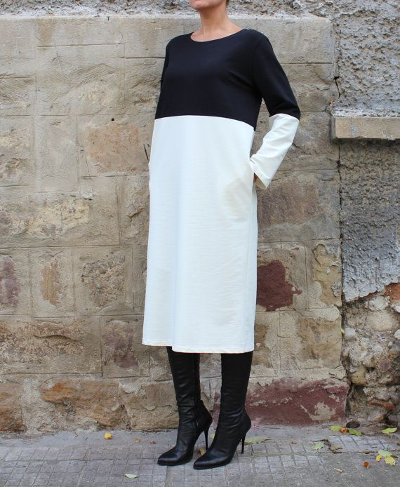 Hey, I found this really awesome Etsy listing at https://www.etsy.com/uk/listing/252675017/midi-black-and-white-elegant-dress-with