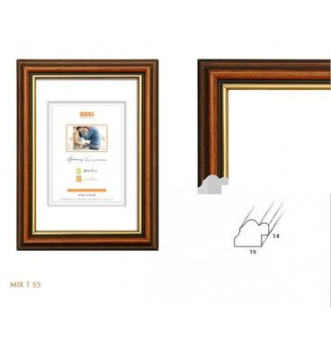 kolecki.com  wąska ramka na zdjęcie w kolorze ciepłego brązu oraz starego złota format 13x18 cm