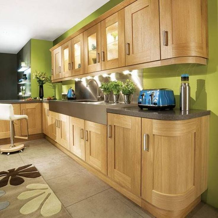 Kitchen Oak Cabinets Wall Color: Kitchen , Green Kitchen Wall Colors : Sage Green Kitchen