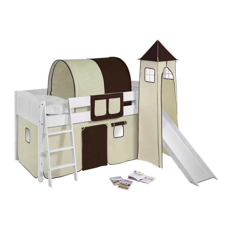 Unique Spielbett IDA Kiefer massiv Wei Braun Beige Basismodell Lilokids Jetzt bestellen unter https moebel ladendirekt de kinderzimmer betten hochbetten
