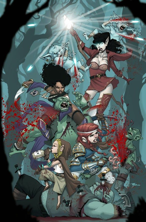 9th art by Stella: Rat Queens Comic Review!!!