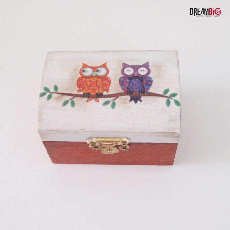 Owl box, Owl jewelry box, Owl decor,wooden owl box,Owl Storage Chest, memory box, Decoupage Wooden Box, owl office decor, love owls by DreamBigHandmade on Etsy