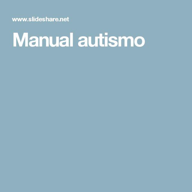 Manual autismo