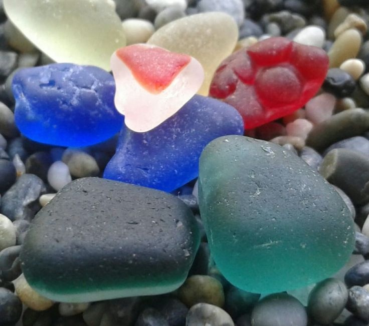 Extra Rare Red Hob Nob Teal Two Toned Yellow Genuine Sea Glass Beach Finds Jq   Crafts, Glass & Mosaics, Beach Glass - Surf-Tumbled   eBay!