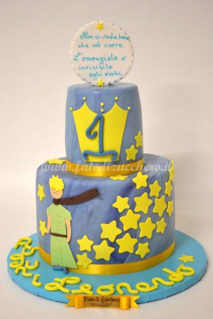 Torta Piccolo Principe: dal design 2D, interamente modellata a mano e personalizzata