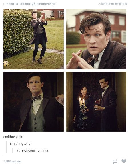 "When they discovered Eleven's side hobby. | Literally Just 21 Funny ""Doctor Who"" Tumblr Posts"