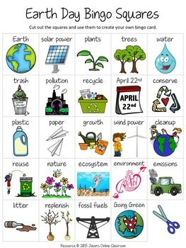 "Earth Day Free Create Your Own Luck Bingo - This resource includes 24 Earth Day related images and vocabulary words and a blank ""MY BINGO CARD"" template that students can use to create their own unique Earth Day themed bingo cards.DOWNLOAD. PRINT. DONE!Related Earth DayResourcesEarth Day Reading & Activities (Primary)Earth Day Reading & Activities (Intermediate)Earth Day I Have...Who Has?"