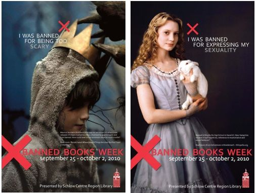 Cool banned book week ads from 2010.