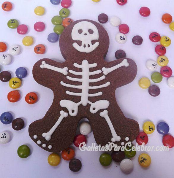 Galletas para Halloween: Esqueletos de chocolate y Calabazas con sorpresa