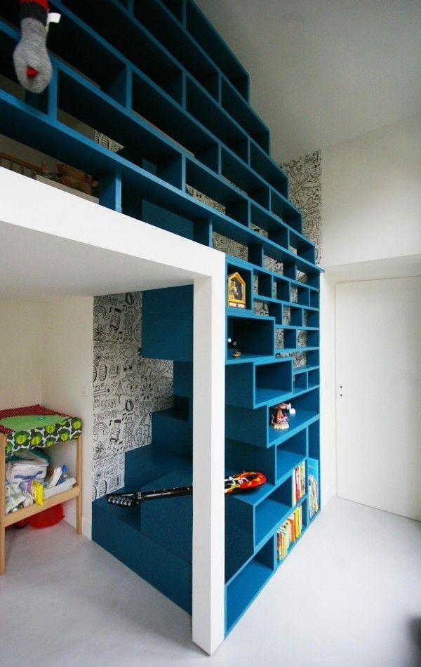 des escaliers originaux pour la mezzanine amazing home spaces pinterest mezzanine la. Black Bedroom Furniture Sets. Home Design Ideas