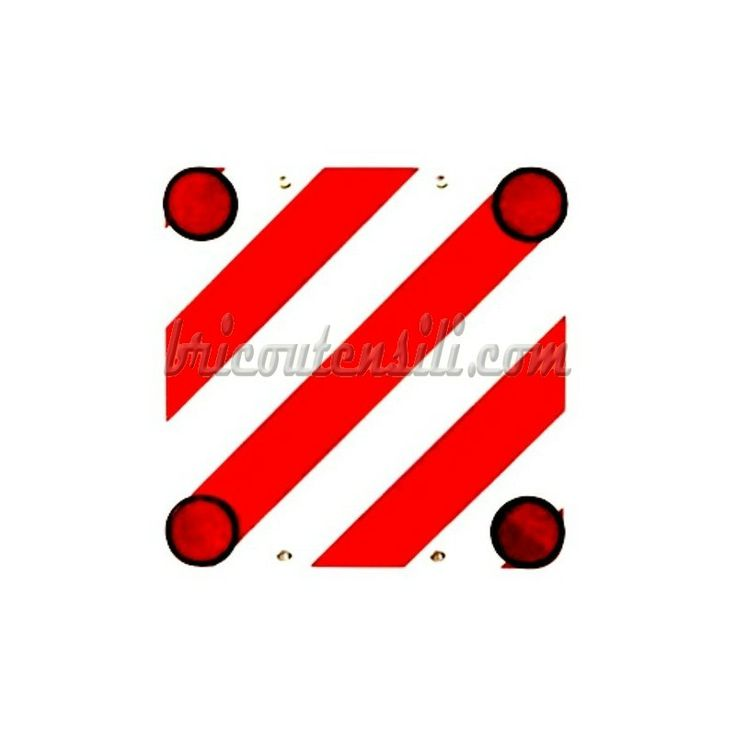 Cartello carichi sporgenti OMOLOGATO - Pannello con catarifrangenti  I carichi non possono sporgere longitudinalmente nella parte posteriore oltre il 30% della lunghezza del veicolo: