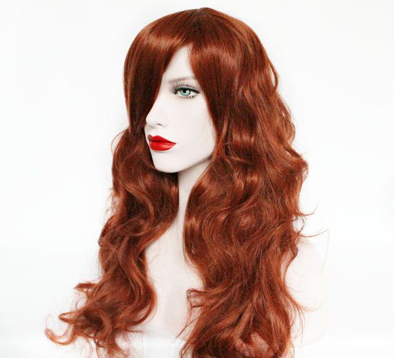 Sale // Auburn wig red wig curly red wig scene by MissVioletLace