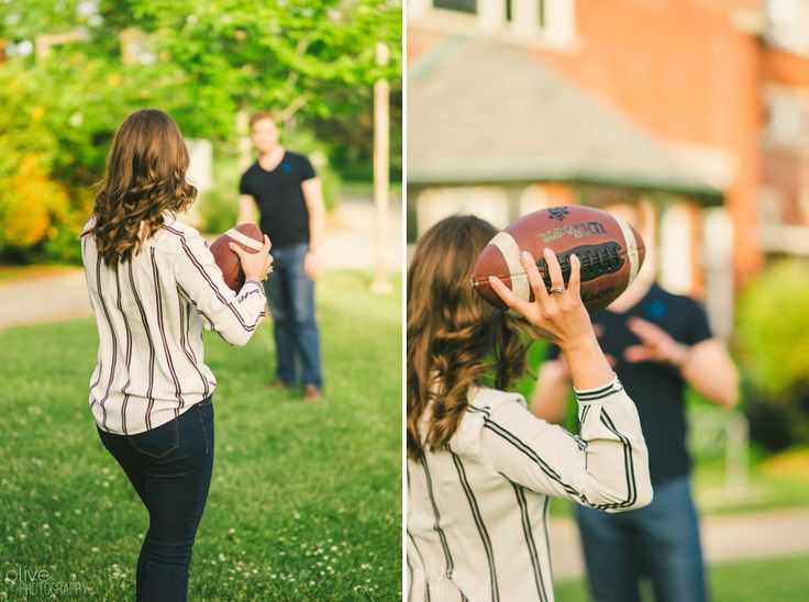 Football University of Guelph Engagement Session Olive Photography | www.olivephotography.ca | Toronto & GTA wedding photographer
