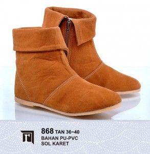 Jual Sepatu Boots Cewe Keren warna cokelat murah online
