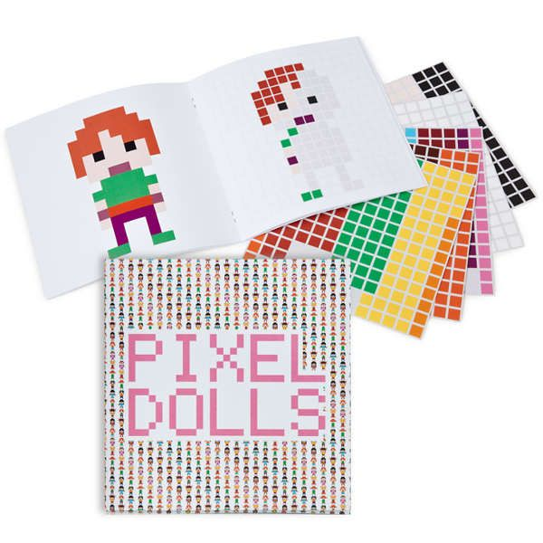 sticker book.: Sweet Muffins, Dolls 6 95, Stickers Books, Dolls Books, Books Mi, Dolls Stickers, Pixel Dolls, Dolls 695, Colors Books
