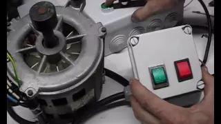 Conexión de motor de lavadora