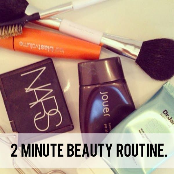 2 minute beauty routine!