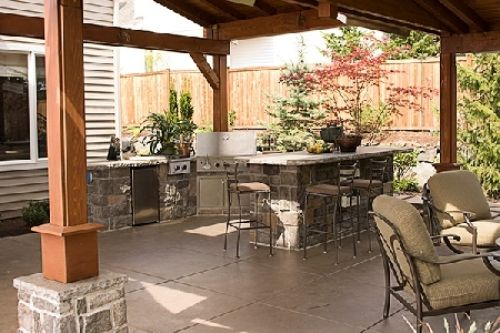 How to Create an Outdoor Kitchen : Beauty Functionality Outdoor Kitchen