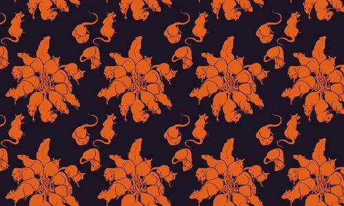 Rat King Floral Pattern